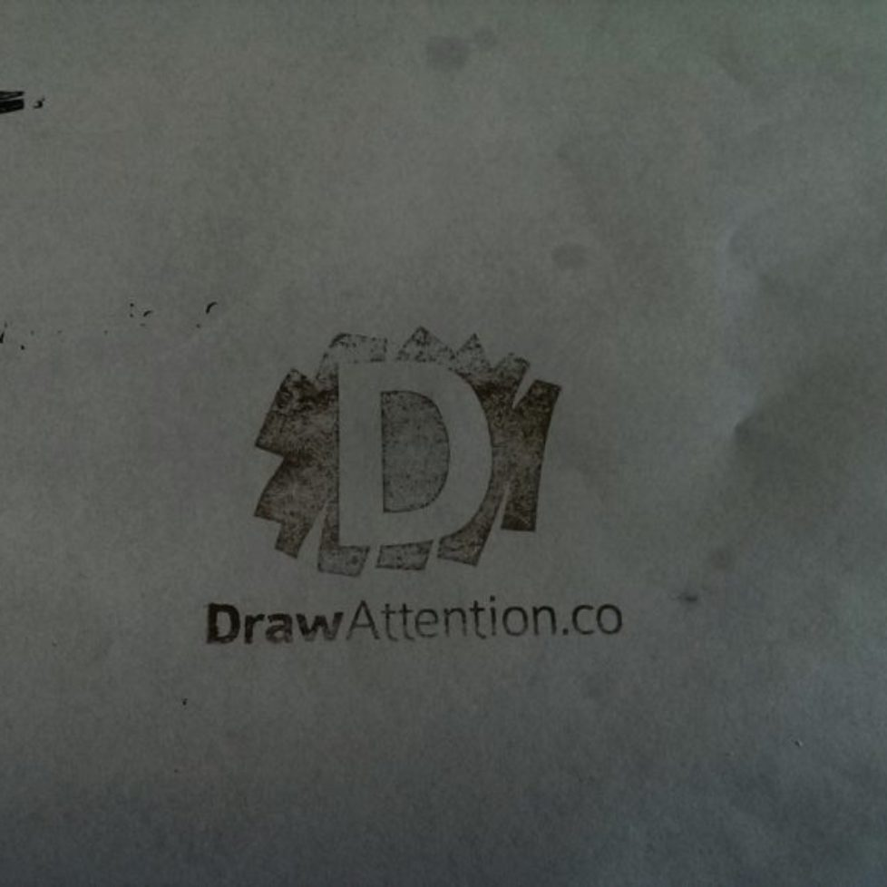 Draw-Attention-Stamp_BW